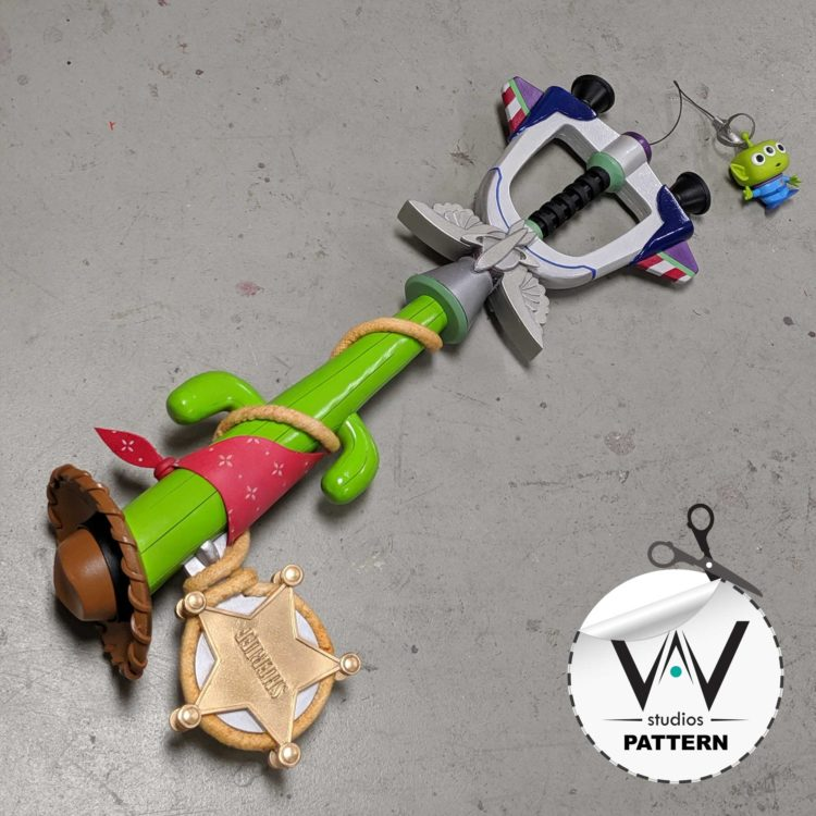 KH3 Favorite Deputy Toy Story Keyblade ( PATTERN )