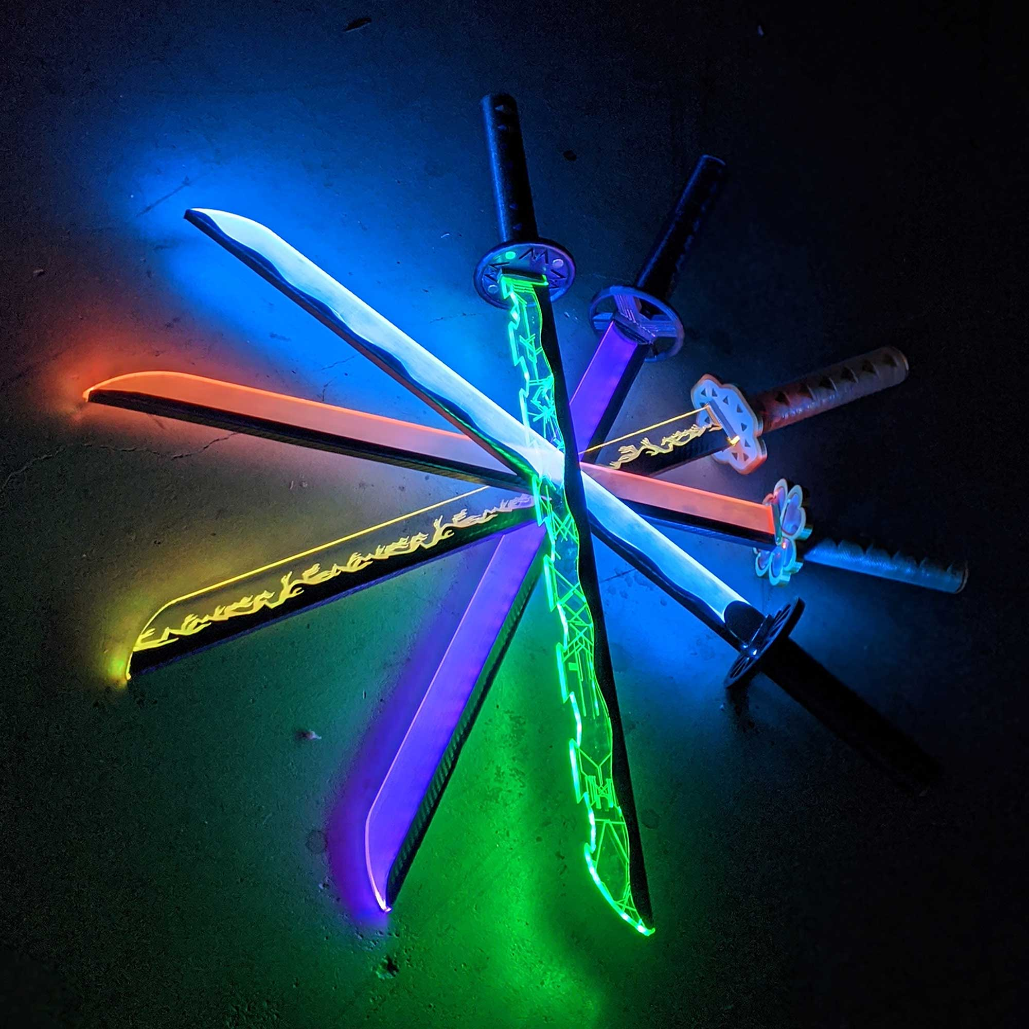 Demon Slayer Light Up LED Katana Diy Kit