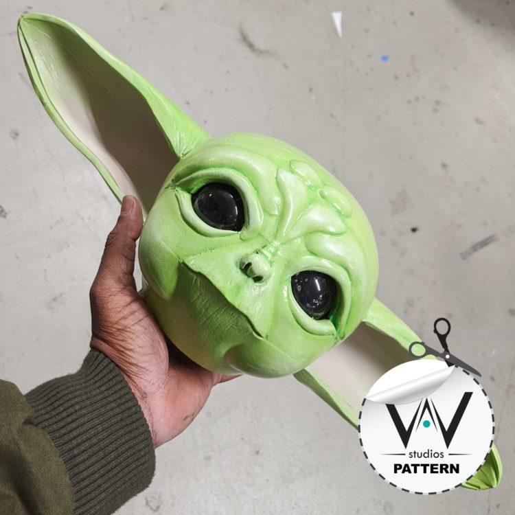 "Baby Yoda ""Head"" (Patterns) The Mandalorian"