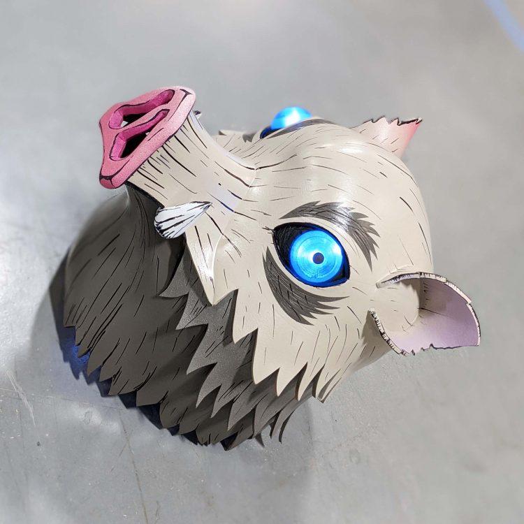Inosuke Boar Head ( Prop/ DIY Kit ) Demon Slayer
